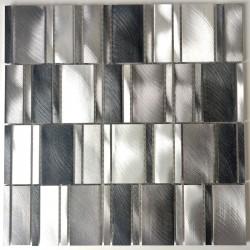 Aluminium mosaic tile backsplash kitchen Celeste