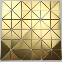 Mosaic tile stainless steel splashback kitchen DALIA