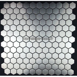 "Mosaique inox, carrelage inox modele "" Hexagon 26 """