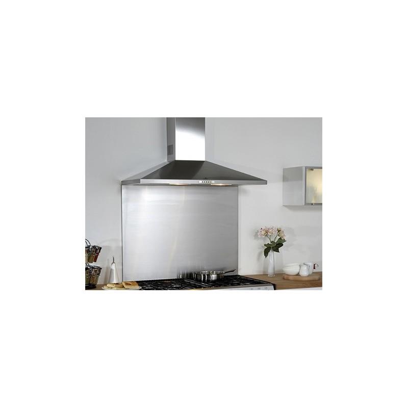 Credence de cuisine en acier inox fond de hotte for Table de cuisine 90 x 90