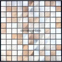 "Mosaique et carrelage aluminium, modele ""alu25 marron """