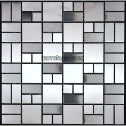 Mosaic stainless steel tile faience credence LOFT