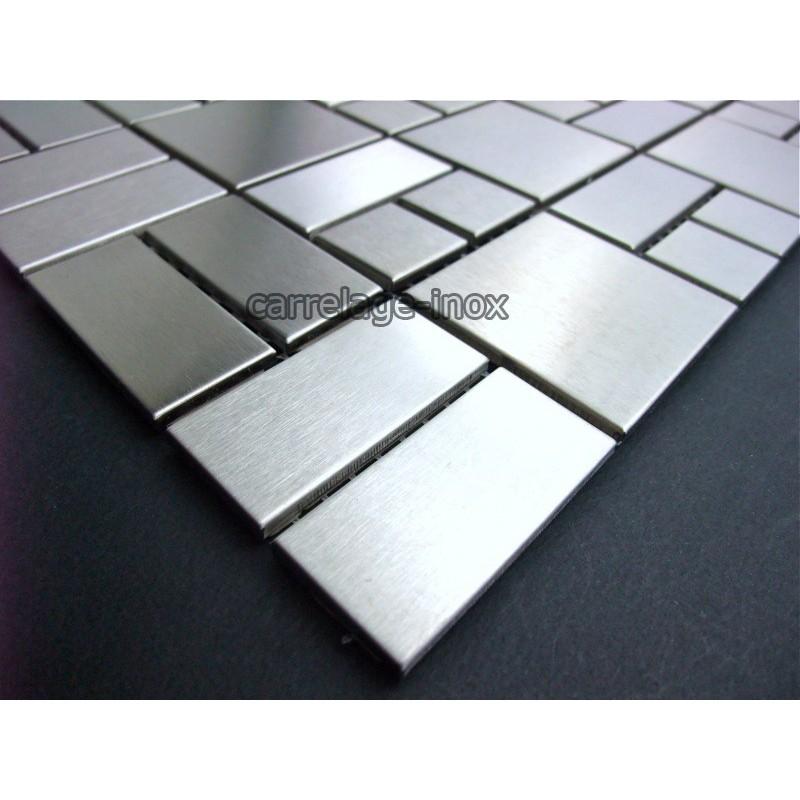 mosaic stainless steel tile faience credence loft. Black Bedroom Furniture Sets. Home Design Ideas