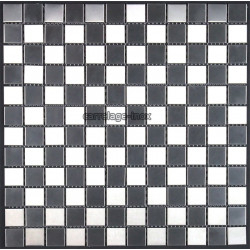 Mosaic stainless steel tile bathroom shower damier25