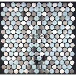 Mosaique et carrelage inox 1 m2, modele multi inox round