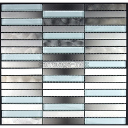 tile stainless steel and glass mosaic plan kitchen multiinox liner