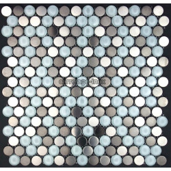 Mosaique inox, carrelage inox MULTI INOX ROUND
