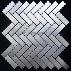 Mosaique inox, carrelage inox, 1 m2 BATON ROMPU