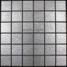 Mosaique inox, carrelage inox faience credence STRUCTURA