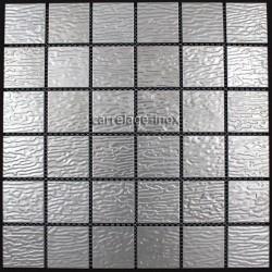 Mosaique inox, carrelage inox 1 m2 credence STRUCTURA