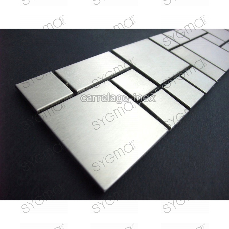 listel stainless steel mosaic tile frieze steel metal laska
