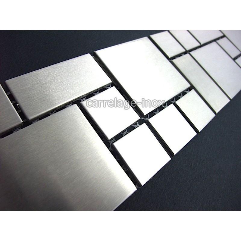 Listel inox mosaique carrelage frise acier metal laska for Mosaiques carrelage