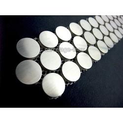 Listel inox mosaique carrelage frise acier metal ROUND 20