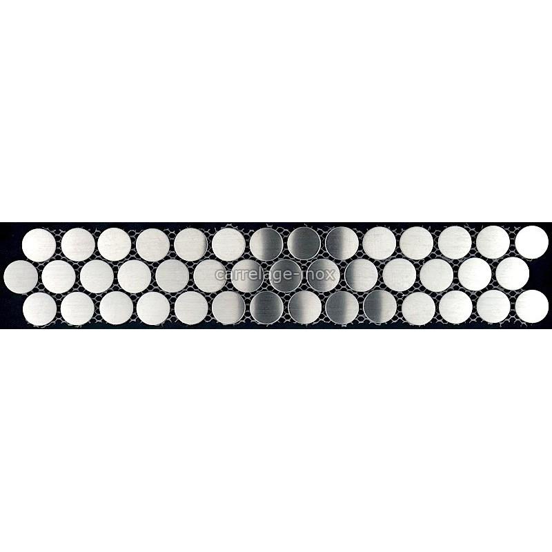 Listel inox mosaique carrelage frise acier metal rpund 20 for Listel carrelage metro