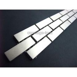 Listel inox mosaique carrelage frise acier metal BRIQUE 48