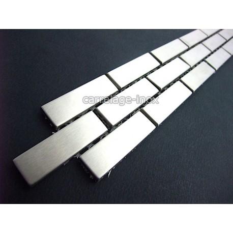 Listel Stainless Steel Mosaic Tile Frieze Steel Metal BRICK - Carrelage frise