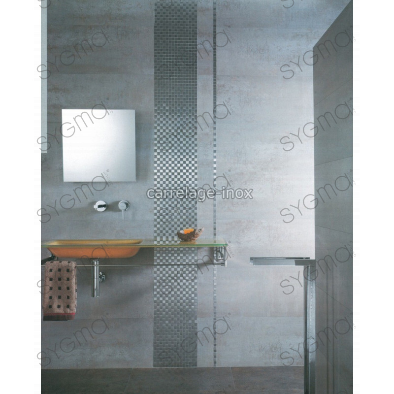 mosaique inox carrelage salle de bain douche damier 25 carrelage. Black Bedroom Furniture Sets. Home Design Ideas