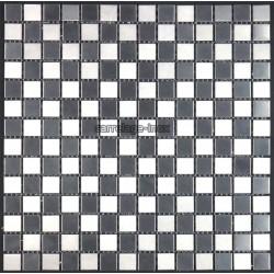 Mosaique et carrelage inox 1 m2, modele Damier 20