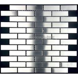 "Mosaique inox, carrelage inox, 1 m2 modele "" Brick 64 """