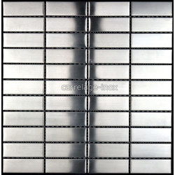 tile stainless steel mosaic plan kitchen rectangular 74