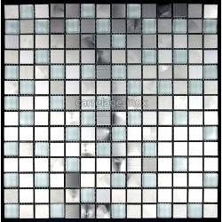 tiled floors, glass and stainless steel mosaic kitchen MULTIREGULAR