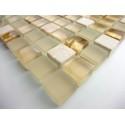 muestra vidrio y piedra mosaico