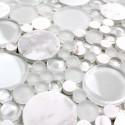 mosaique pierre et verre au m2