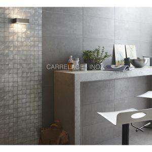 Photo carrelage inox carrelage for Plaque aluminium credence cuisine
