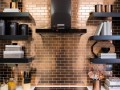 copper backsplash tile stainless steel model brique64 cuivre